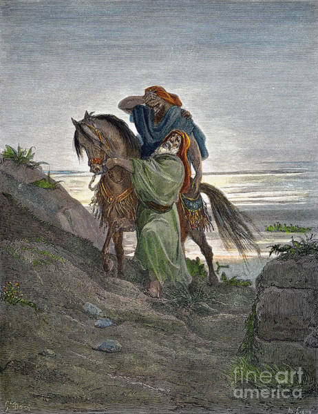 Drawing - Good Samaritan by Gustave Dore