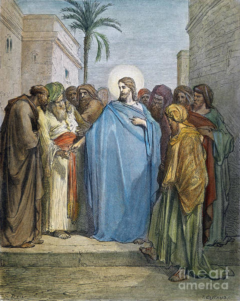 Wall Art - Drawing - Jesus by Gustave Dore