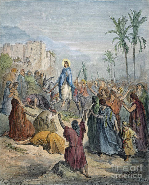 Wall Art - Drawing - Jesus In Jerusalem by Gustave Dore