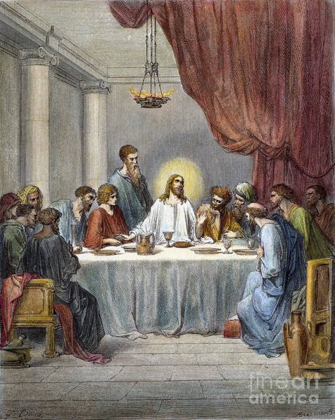 Wall Art - Drawing - Last Supper by Gustave Dore