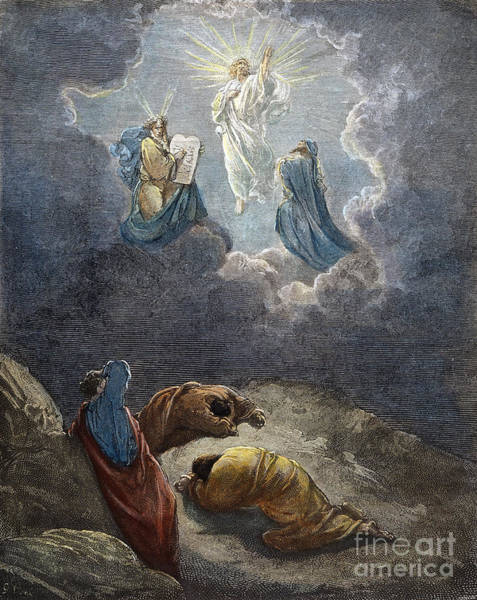 Wall Art - Drawing - Transfiguration by Gustave Dore