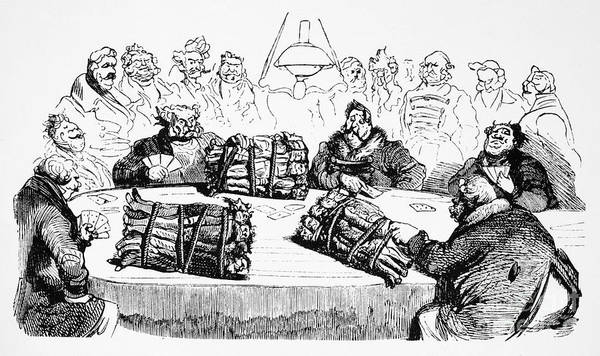 1854 Drawing - Russian Cartoon, 1854 by Gustave Dore