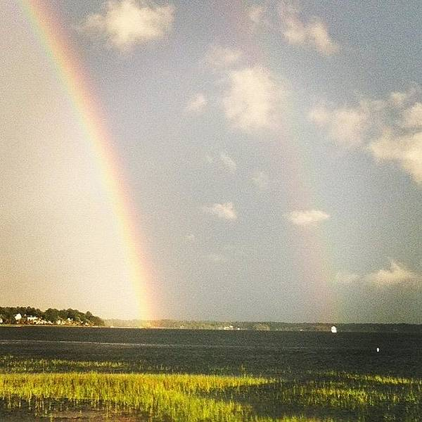 View Photograph - Double Rainbow.  by Lea Ward