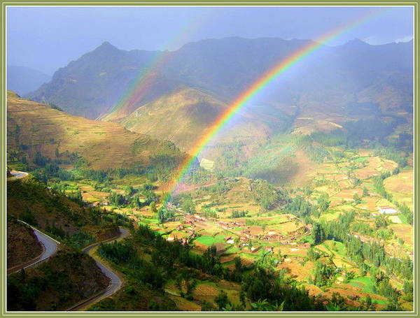 Double Rainbow Art Print by Satya Winkelman