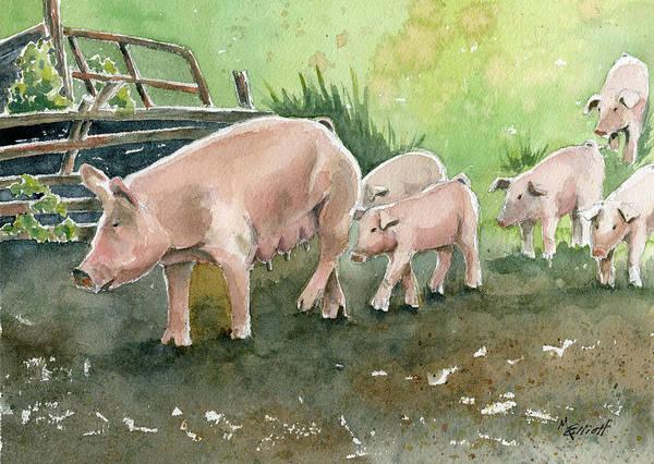 Wall Art - Painting - Down On The Farm by Marsha Elliott