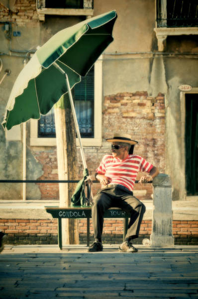 Gondola Photograph - Down Time by Marion Galt