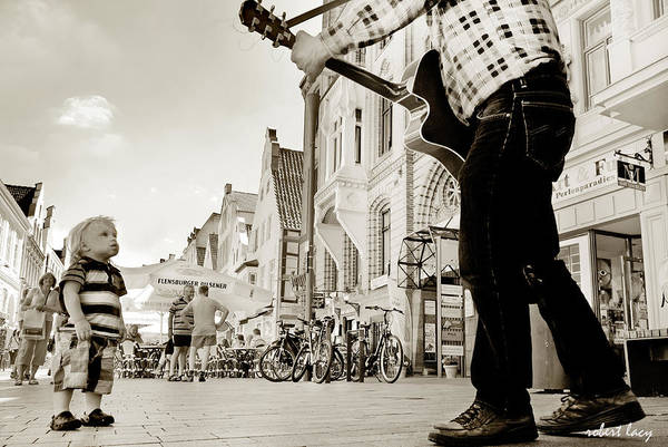 Busker Wall Art - Photograph - Downtown Busker by Robert Lacy