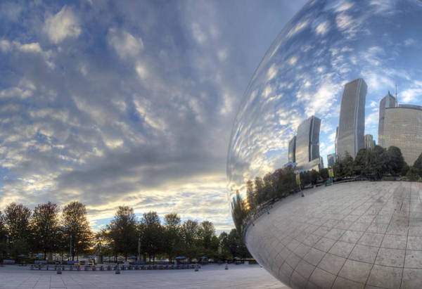Millenium Photograph - Downtown Chicago At Dawn by Twenty Two North Photography