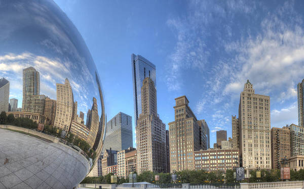 Millenium Photograph - Downtown Chicago At Sunrise by Twenty Two North Photography