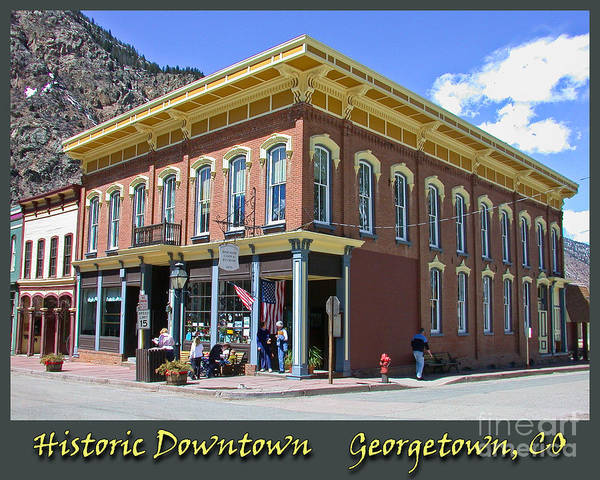 Photograph - Downtown Georgetown Colorado 2 by Tim Mulina