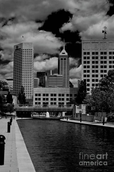 Photograph - Downtown Indy Canal by David Haskett II