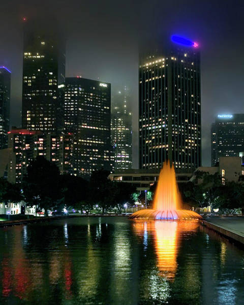 Photograph - Downtown Los Angeles At Night by Endre Balogh