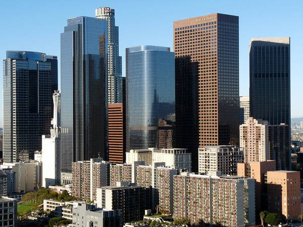 Photograph - Downtown Los Angeles Skyline by Jeff Lowe