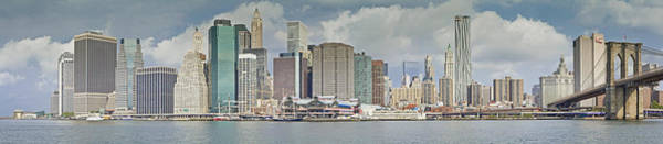 Photograph - Downtown Manhattan Panorama 3 by Val Black Russian Tourchin