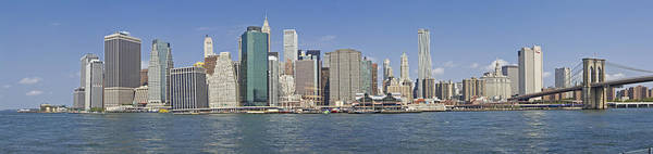 Photograph - Downtown Manhattan Panorama 5 by Val Black Russian Tourchin