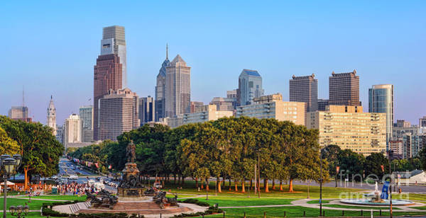 Photograph - Downtown Philadelphia Skyline by Olivier Le Queinec
