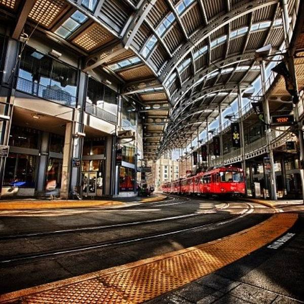 Wall Art - Photograph - Downtown San Diego Trolley Station by Larry Marshall