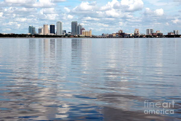 Photograph - Downtown Tampa Over Hillsborough Bay by Carol Groenen