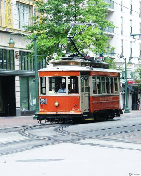 Digital Art - Downtown Trolley by Lizi Beard-Ward