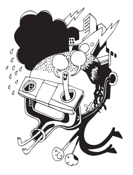 Doodle Digital Art - Dowsing Man by Steven Silverwood