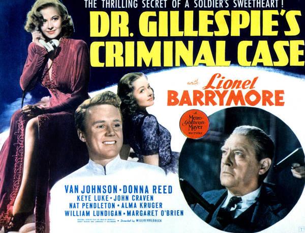 Van Johnson Photograph - Dr. Gillespies Criminal Case, Marilyn by Everett