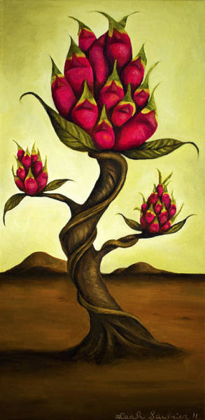 Painting - Dragon Fruit Tree 1 by Leah Saulnier The Painting Maniac