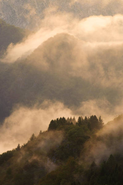 Friuli Photograph - Dramatic Light At Sunset In The Italian Alps by Olaf Broders