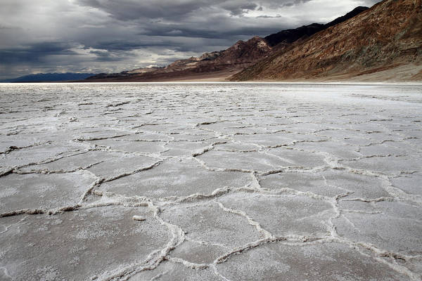 Photograph - Dramatic Sky At Bad Water Death Valley by Pierre Leclerc Photography