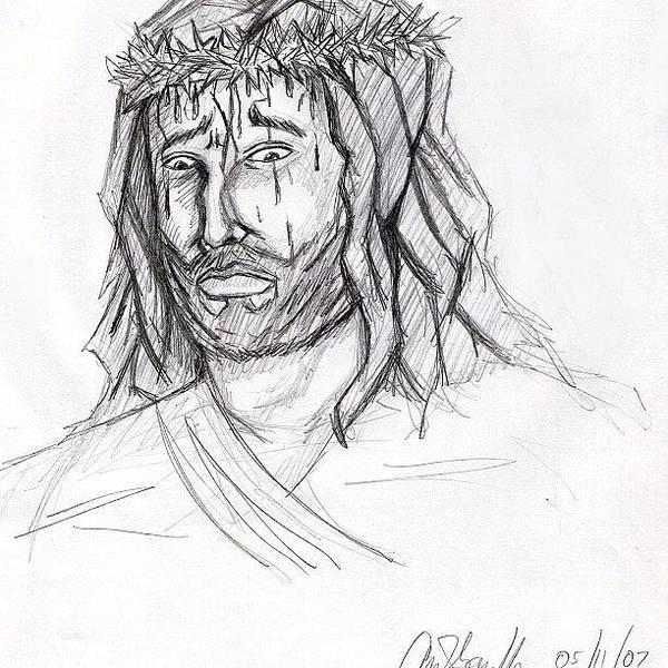 Wall Art - Photograph - #drawing #illustration #jesus by Kidface Anbessa-Ebanks