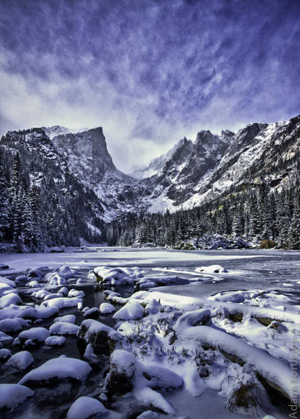 Frozen River Digital Art - Dream Lake by Adam Northam