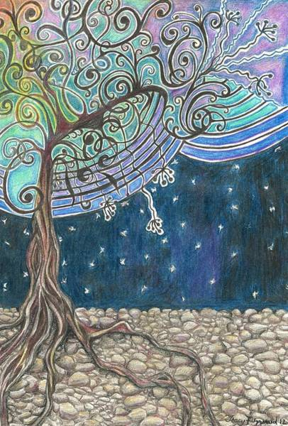 Earthy Drawing - Dream Tree by Tracy Fitzgerald