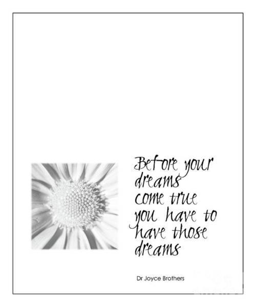 Dreams Come True Quote Art Print