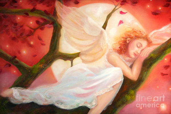 Painting - Dreams Of Strawberry Moon by Michael Rock
