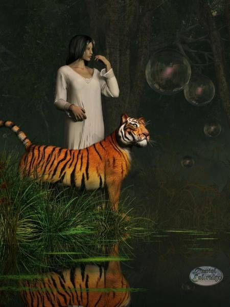 Digital Art - Dreams Of Tigers And Bubbles by Daniel Eskridge