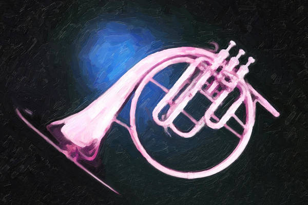 Painting - Dreamy Pink French Horn by M K Miller