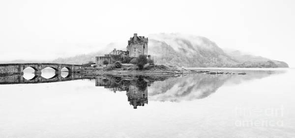 Foreshore Photograph - Dreich Morning At Eilean Donan Castle by Janet Burdon