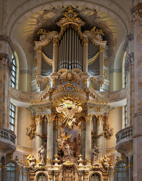 Photograph - Dresden Cathedral Altar by Endre Balogh