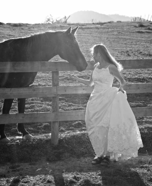 Girl And Horse Photograph - Dress 40 by Betsy Knapp