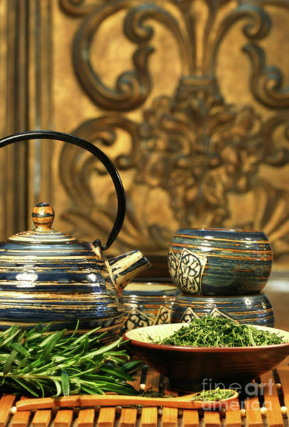 Traditional Chinese Medicine Wall Art - Photograph - Dries Herb Leaves  by Sandra Cunningham