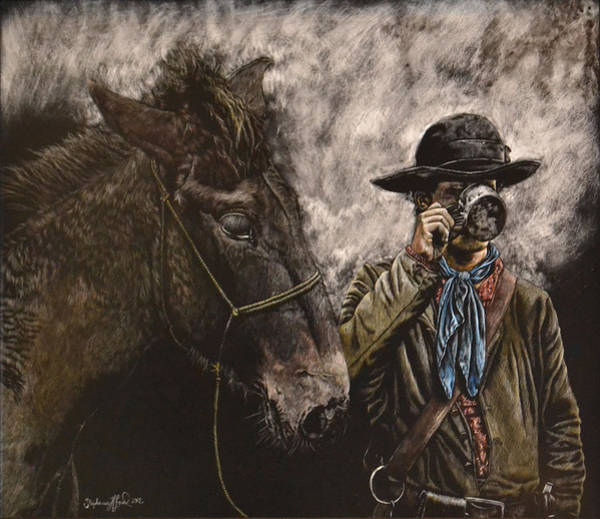 Confederate Soldier Drawing - Drinkin' Buddies by Stephanie Ford