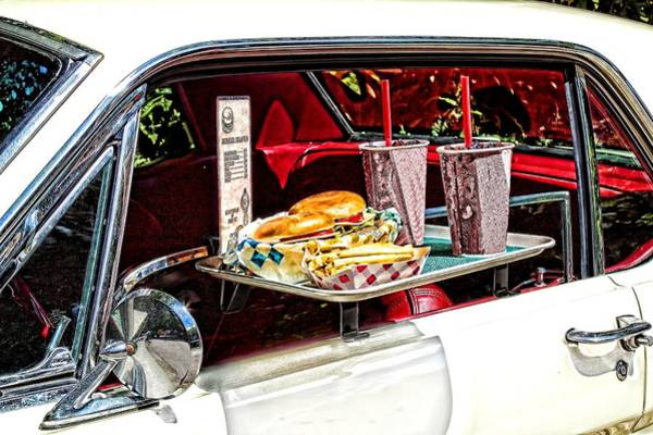 Soda Straws Photograph - Drive-in by Rudy Umans