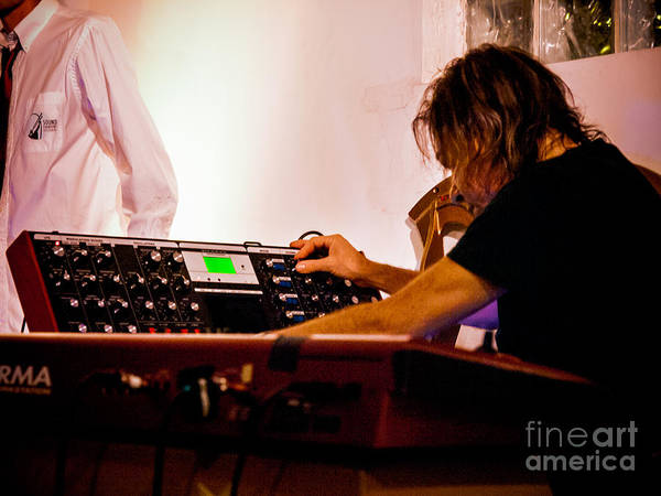 Photograph - Droid - Adam Holzman Keyboard by Jim DeLillo