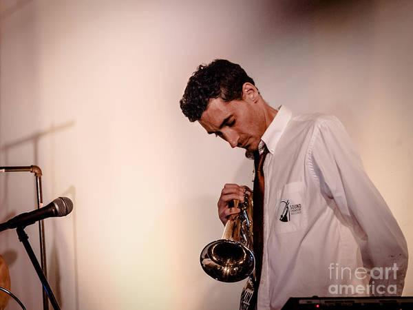 Photograph - Droid- Jordan Mcclean On Trumpet by Jim DeLillo
