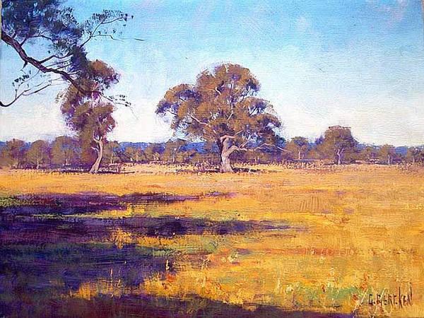 Australia Painting - Dry Summer Whittlesea Australia by Graham Gercken