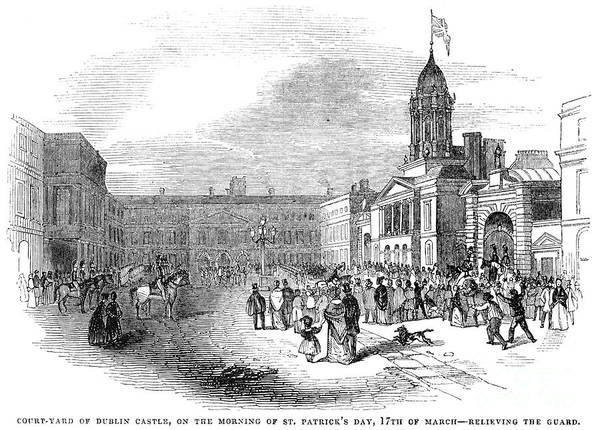Photograph - Dublin Castle, 1843 by Granger