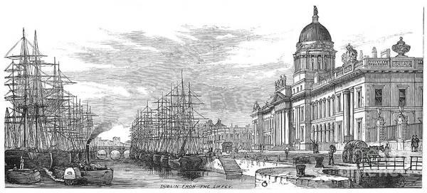 Photograph - Dublin: Custom House, 1878 by Granger