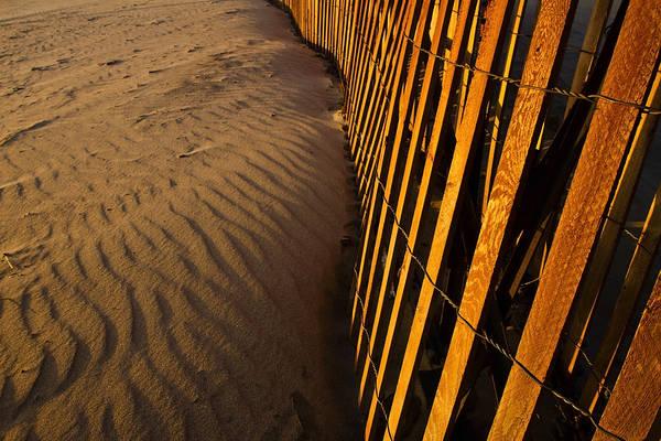 Photograph - Dunes Fence At Sunrise by Sven Brogren