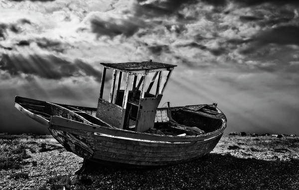 Photograph - Dungeness In Mono by Meirion Matthias