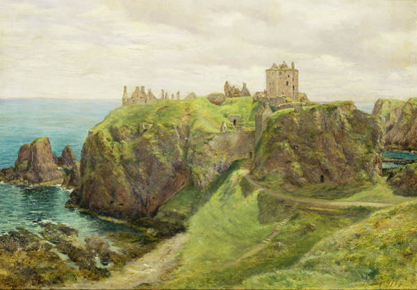 Fortification Wall Art - Painting - Dunnottar Castle by Sir George Reid