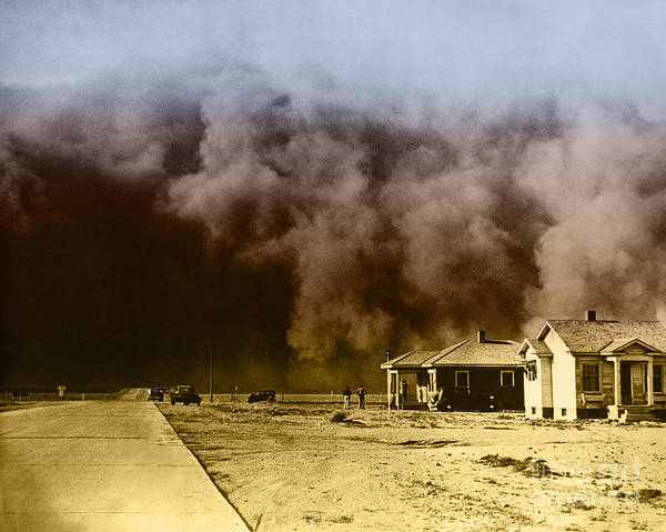 Photograph - Dust Storm, 1930s by Omikron